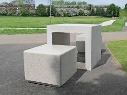 Concrete Table And Benches Amazing Concrete Picnic Tables Modern Csublogs Com