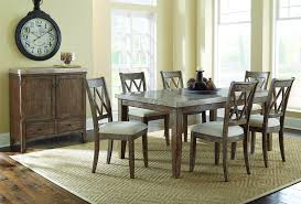 steve silver franco 9 piece marble counter height dining set