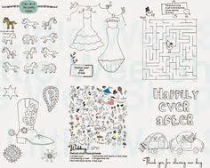 wedding coloring u0026 activity book kids wedding door