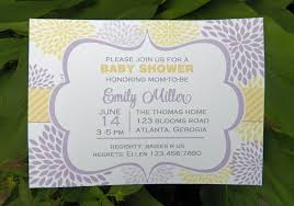 lavender and yellow bloom baby shower that party
