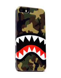 Military Flag Case Camo Shark Iphone Case Sprayground