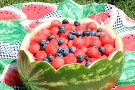 tar heel kitchen melon fruit bowl