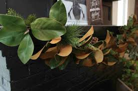 magnolia leaf garland creating a nature inspired home for christmas balsam hill
