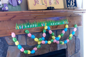Easter Decorations Outside by Easter Bunting With Plastic Eggs Make And Takes