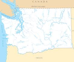 Map Of Washington by Washington Rivers And Lakes U2022 Mapsof Net