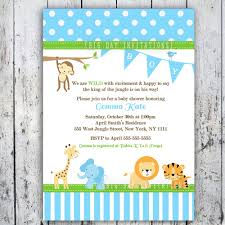 baby shower invitations for boy template safari baby shower invitations