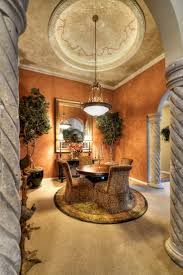 Tuscan Style Decor Tuscan Style Homes With Round Unique Rug And Rounded Shape