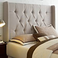Bedroom Wall Padding Bedroom Navy Blue Tufted Padded Headboard With Wooden Frame For