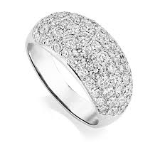 platinum pave rings images Platinum domed pave set diamond dress ring jpg