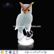 murano glass figurine christmas decoration owl white hand blown