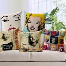 bop marilyn monroe audrey hepburn home decor cushion linen cotton