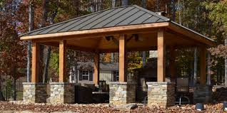 outdoor kitchen pavilion western red cedar pavilion fireplace