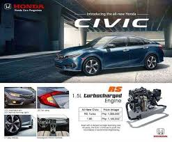 honda philippines local dealer leaks prices of 2016 honda civic auto industry news
