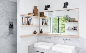 home design before and after before and after three bold black and white bathroom renovations
