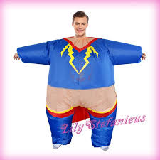 Halloween Blow Costumes Chub Superman Suit Inflatable Clothing Blow Color