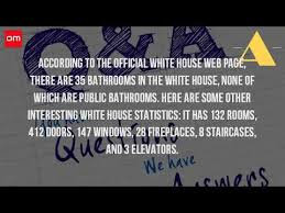 Bathrooms In The White House How Many Bathrooms Are There In The White House Youtube