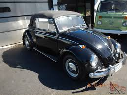 volkswagen beetle 1967 rare to find black 1967 vw convertible beetle with 1493 cc engine