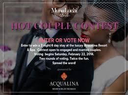 our 2014 couple contest sponsored by acqualina resort u0026 spa is