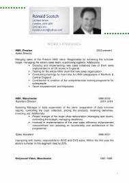 example of resume and cv