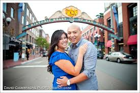 photographers in san diego marc and roxanne engagement gasl district san diego bar