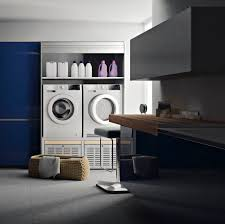 interior modern small laundry room design with side by side
