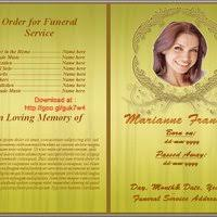 Free Funeral Programs Funeral Program Templates By Free Funeral Program Template
