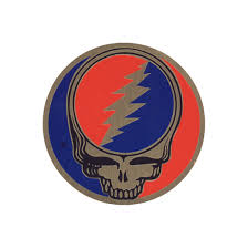 Steal Your Face Flag Grateful Dead Steal Your Face 3 In Metal Sticker Liquid Blue