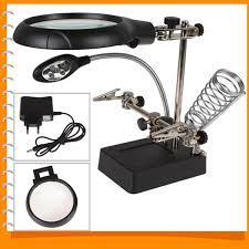 led lighted desk magnifying l 2 5x 7 5x 10x led light magnifier desk l helping hand repair
