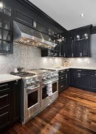 Black Cabinets White Countertops Black And White 45 Sensational Kitchens To Inspire Stainless