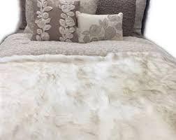 Faux Fur Duvet Cover Queen Faux Fur Bedspread Etsy