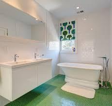 new york white subway tiles bathroom beach style with chrome