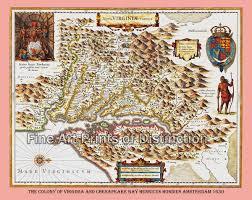 Potomac River On Map 1630 Map Of Virginia U0026 Chesapeake By Henricus Hondius Brandywine