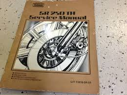 yamaha sr250 g service shop repair manual and 50 similar items