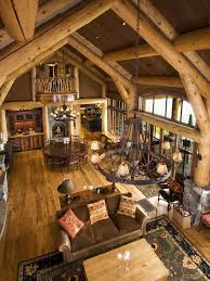 log cabin interiors open floor plans floors log cabin