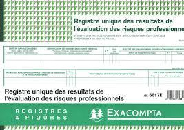 risques professionnels bureau registre unique d évaluation des risques professionnels disponible à