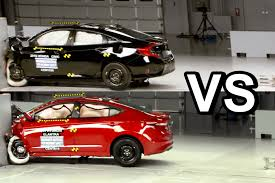 honda civic or hyundai elantra 2017 hyundai elantra vs 2016 honda civic sedan crash test
