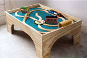 Wooden Train Table Plans Free by Arch Light Links
