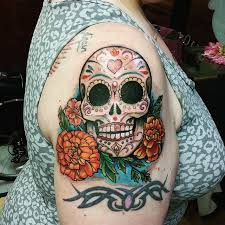 27 colorful sugar skull designs and meanings tattoos win