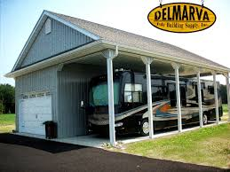 34x45x14 car garage and rv port pole building residential