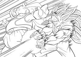 dragonball coloring pages dragon ball goku super saiyan