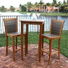 Bistro Set Bar Height Outdoor by Patio Ideas Bar Height Patio Table Umbrella Bar Height Patio