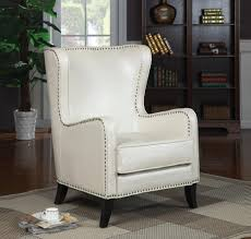 White Leather Chair With Ottoman White Leather Chair Nyfarms Info