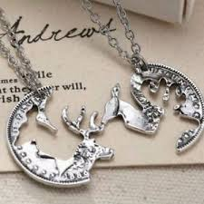 buck and doe couples necklace deer buck his doe heart couples necklace set s gift