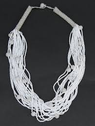 white beads necklace images African white seed bead necklace woven crystal white beads JPG