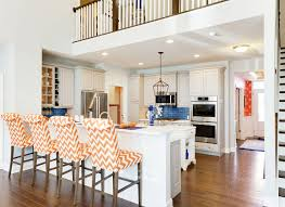 Coastal Cottage Kitchens - beach house tour colorful coastal cottage
