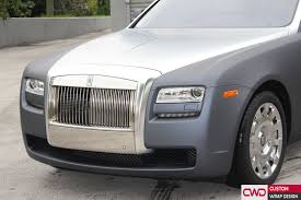 chrome wrapped cars rolls royce ghost gunmetal grey wrap