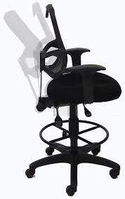 mesh back ergonomic drafting stool free shipping