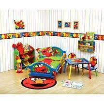 Elmo Bedding For Cribs Sesame Scribbles 4pc Toddler Bed Set Toddler Bed Sesame