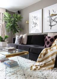 top 10 home tours of 2015 velvet couch fiddle leaf fig tree and