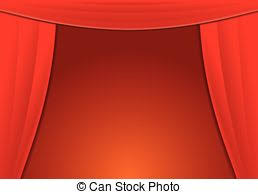 Curtains With Red Vector Of Theater Curtains With A Transparent Background Vector